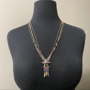 Vintage Signed RB Sterling Silver Star Necklace